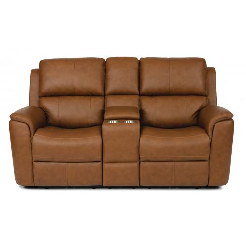 Henry Power Reclining Loveseat with Console & PHR & PLMBR