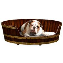 Walnut wooden dog bed 40""