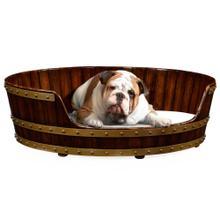 "See Details - Walnut wooden dog bed 40"""