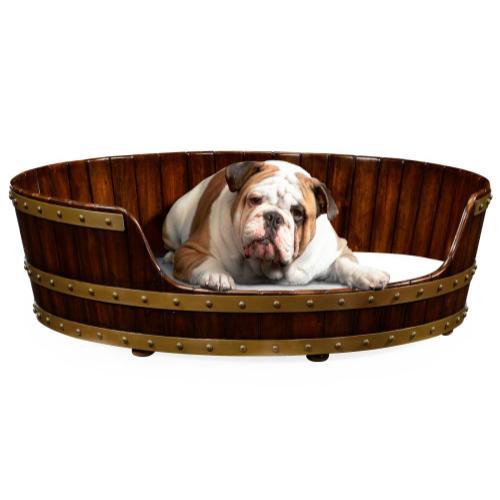 "Walnut wooden dog bed 40"""