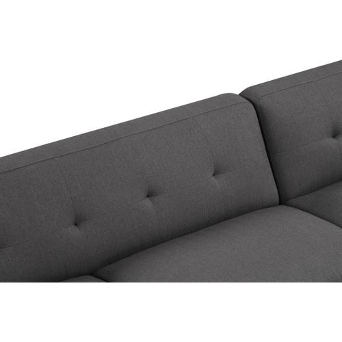 Emerald Home Remix 2pc Sectional W/2 Accent Pillows Charcoal U3789m-11-12-13-k
