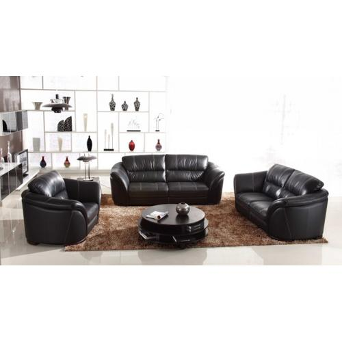 Divani Casa 262 Black Leather Sofa Set