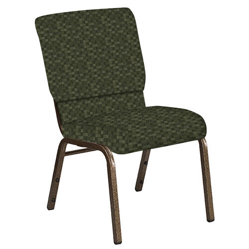 Flash Furniture - 18.5''W Church Chair in Empire Fern Fabric - Gold Vein Frame