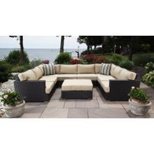 See Details - Salina Outdoor U-Shaped Sectional Set