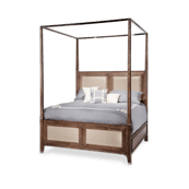 Biscayne West Eastern King Canopy Bed (5 pc) Haze