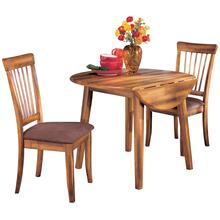 Round DRM Drop Leaf Table And 2 Chairs