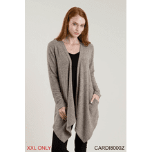 Heathered Pocket Cardigan - XXL (2 pc. ppk.)