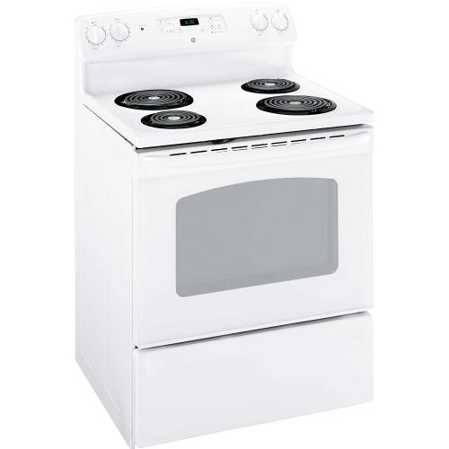 "GE 30"" Electric Freestanding Range with Storage Drawer White - JCBS280DMWW"