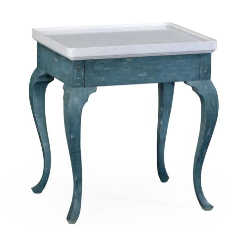 Hemsley table white marble