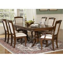 View Product - 5 Piece Double Pedestal Table Set