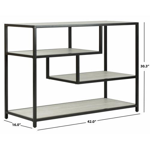 Safavieh - Reese Geometric Console Table - Beige / Black