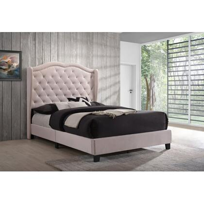 Darby King Bed - Pink