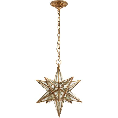 Visual Comfort CHC5211GI-AM E. F. Chapman Moravian Star 1 Light 18 inch Gilded Iron Pendant Ceiling Light