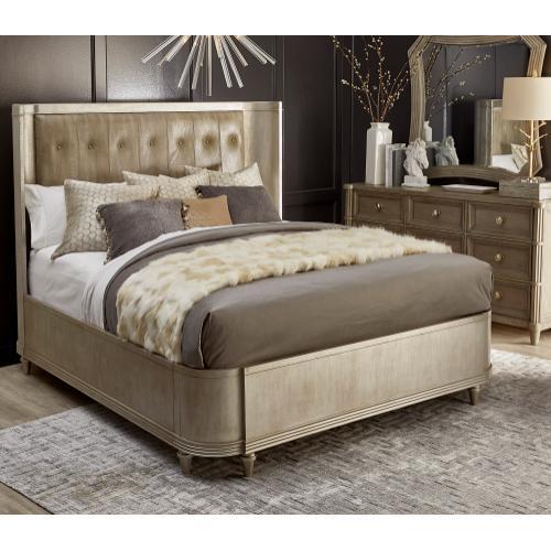 Morrissey Queen Lloyd Upholstered Shelter Bed Bezel