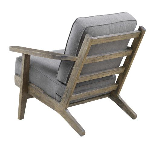 Metro Accent Chair in Slate w/ Antique Legs