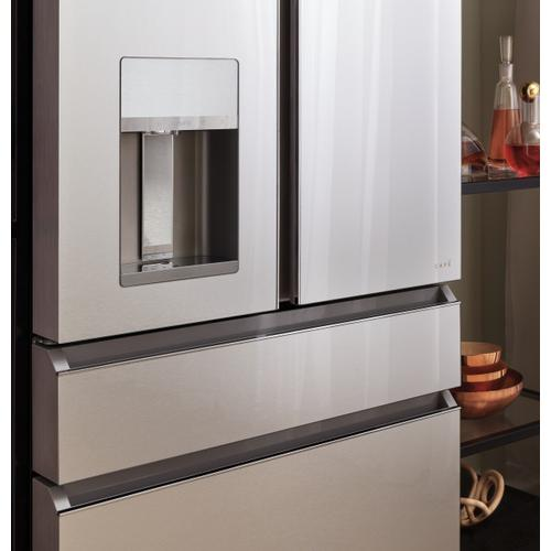 Café ENERGY STAR® 27.8 Cu. Ft. Smart 4-Door French-Door Refrigerator in Platinum Glass