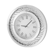 Sparkle 20 in. Contemporary Crystal Round Wall clock in Clear