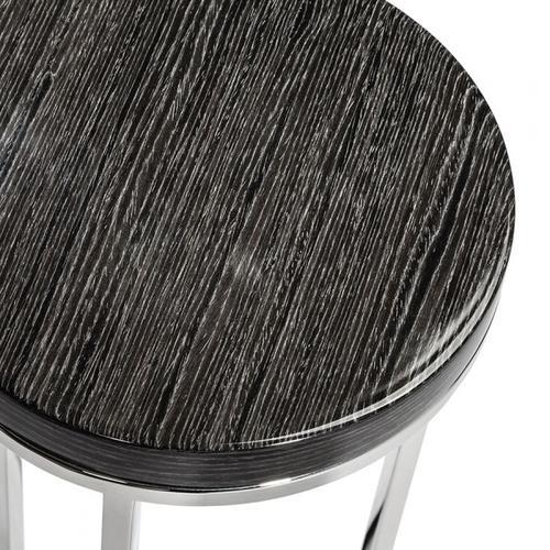 Elijah Round Drink Table - Smoked Grey O