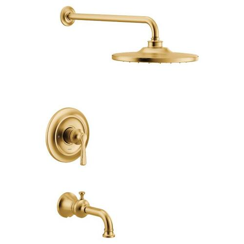 Colinet brushed gold m-core 3-series tub/shower