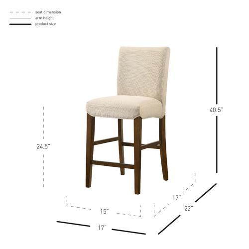 Levi KD Fabric Counter Stool, Summit Linen