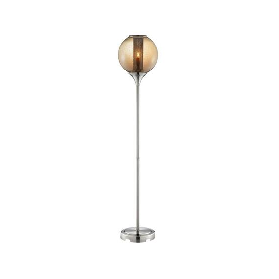 Stein World - Kershaw Metal glass floor lamp