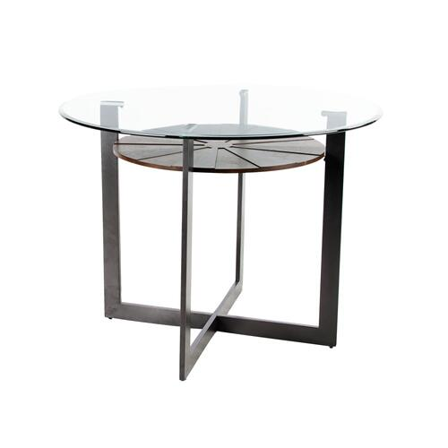 Olson 48-inch Counter Glass Top Table