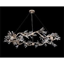 Luna: Crystal Wand Branched Nine-Light Chandelier