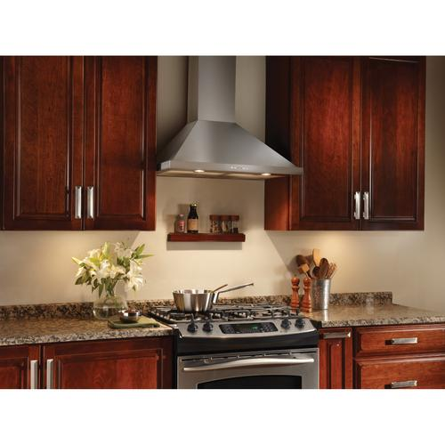 Broan® Elite EW58 Series 30-Inch Wall-Mount Range Hood, 520 Max Blower CFM, Stainless Steel