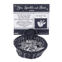 You Sparkle and Shine Charms in a Basket (24 pc. ppk.)