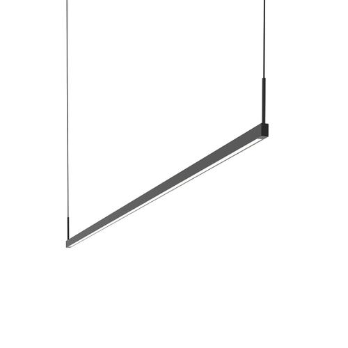 Sonneman - A Way of Light - Thin-Line LED Pendant [Size=6' Two-Sided, Color/Finish=Satin Black]