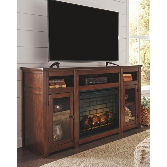 """Harpan 72"""" TV Stand With Electric Fireplace"""