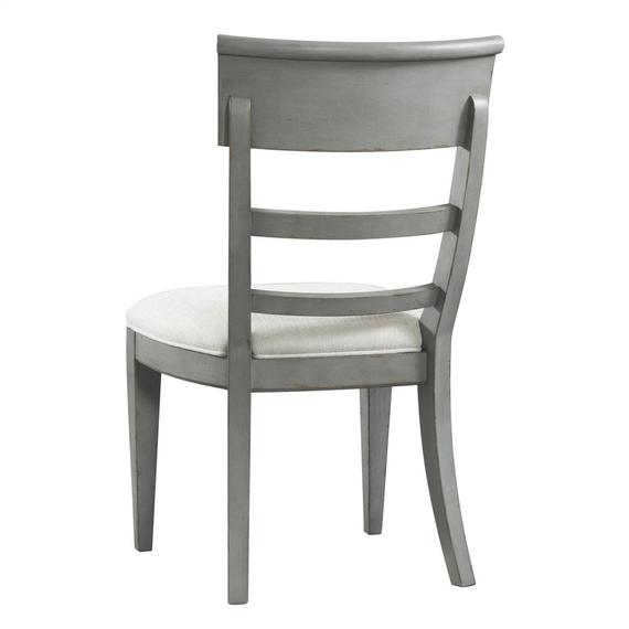 Riverside - Upholstered Side Chair - Chipped Gray Finish