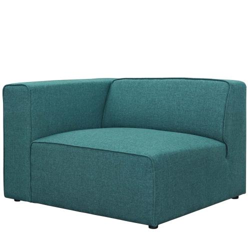 Mingle 7 Piece Upholstered Fabric Sectional Sofa Set in Teal