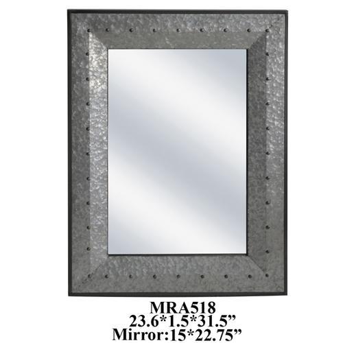 "Product Image - 23.75X1.5X31.5"" METAL WALL MIRROR, 1 PC PK/2.69'"