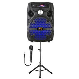 RECHARGEABLE PORTABLE SPEAKER WITH STAND + MIC + LED LIGHTS