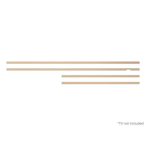 "Gallery - (2021) 75"" The Frame Customizable Bezel - Modern Beige"