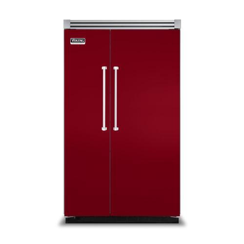 "Viking - Apple Red 48"" Side-by-Side Refrigerator/Freezer - VISB (Integrated Installation)"