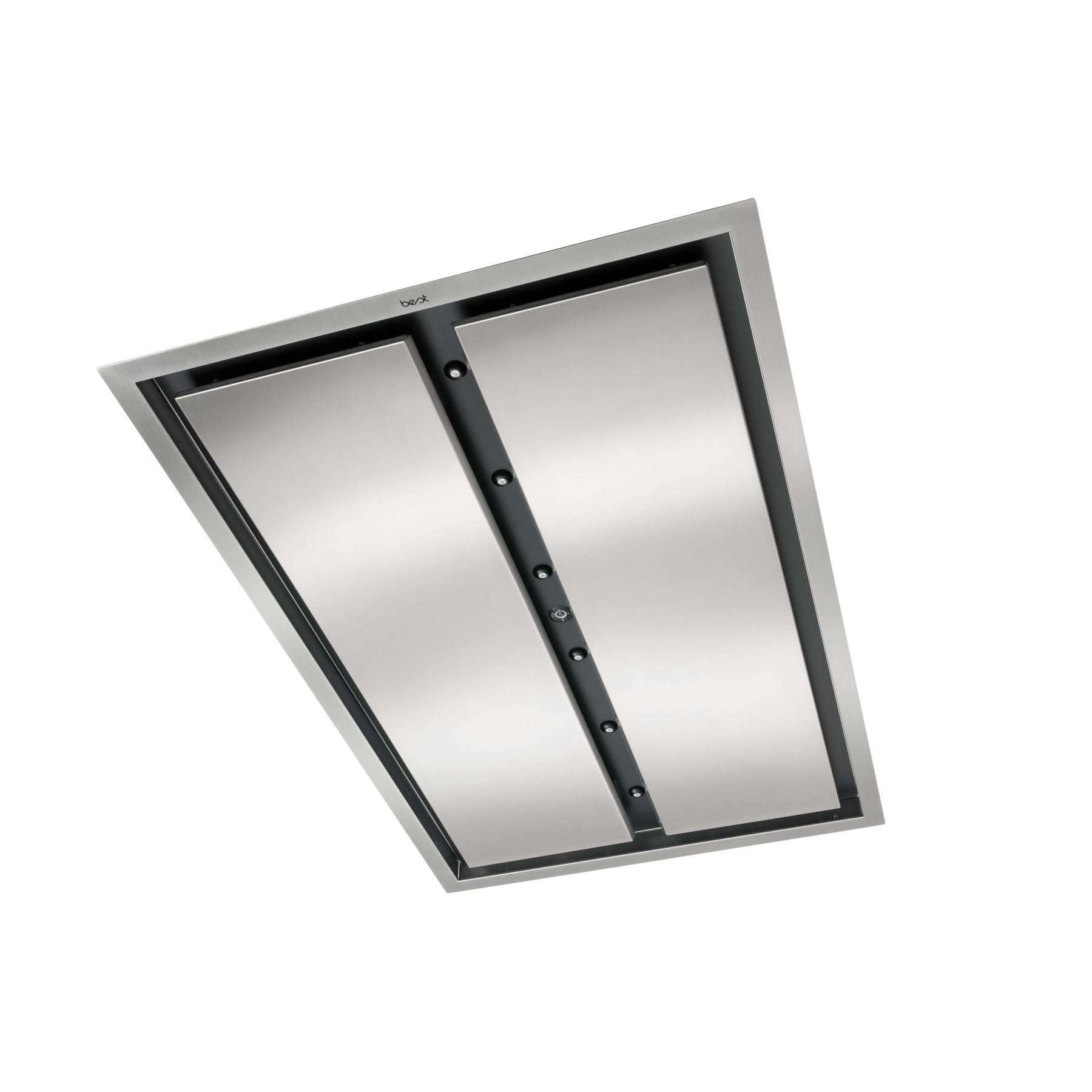 43-inch Brushed Stainless Steel Ceiling Mounted Range Hood with LED Light, internal 800 Max Blower CFM (CC34-43 Series)
