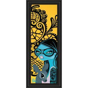 """""""Ink Chiffon Il"""" By Bev Hogue Framed Print Wall Art"""
