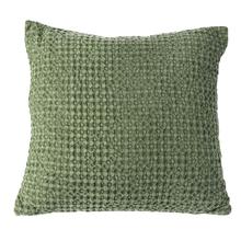 Olive Stonewashed Waffle Pillow
