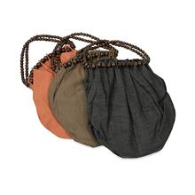BTQ Fairfax Straw and Wood Bead Bag - Ast 3