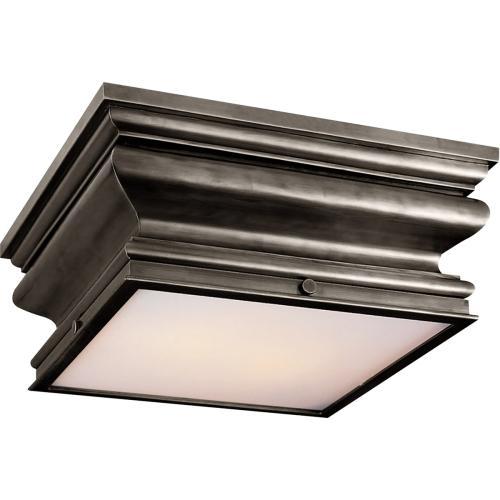 Visual Comfort CHC4215BZ E. F. Chapman Square Fl 2 Light 14 inch Bronze Flush Mount Ceiling Light