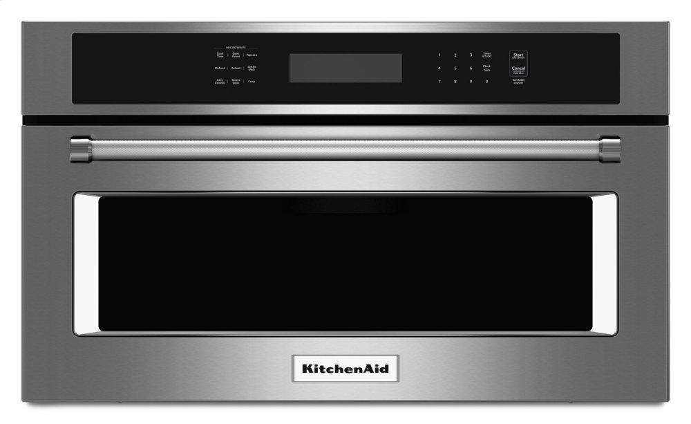 """Kitchenaid27"""" Built In Microwave Oven With Convection Cooking - Stainless Steel"""