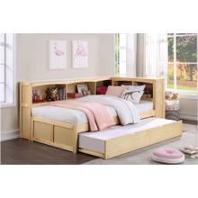 Twin Bookcase Bed with Twin Trundle