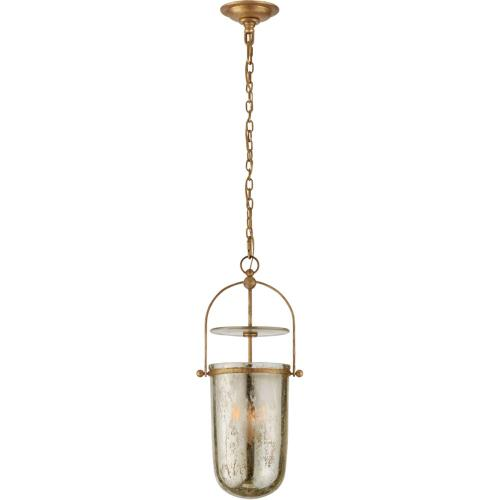 Visual Comfort CHC2298GI-MG E. F. Chapman Lorford 3 Light 10 inch Gilded Iron Lantern Pendant Ceiling Light, Tall Smoke Bell