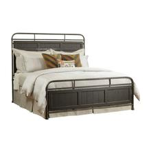 Folsom Queen Metal Bed - Complete - Anvil Finish