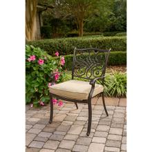 Hanover Set of 4 Traditions Aluminum Outdoor Dining Chairs with Tan Seat Cushions, AAF06000F01-4