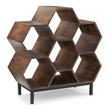 6 and A Half Cubbies Bookshelf, Hazelnut Brown