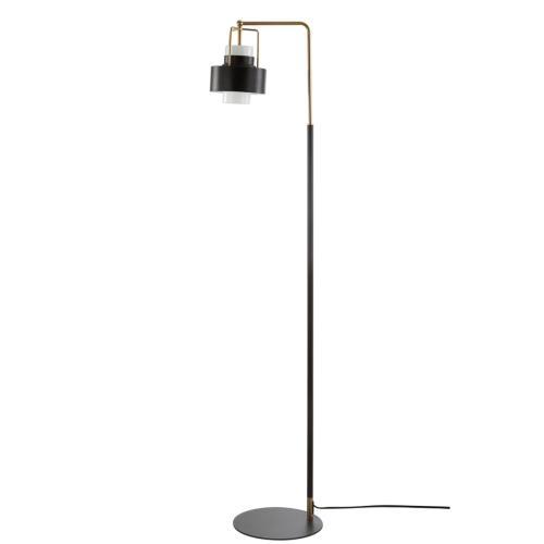 Brendon Floor Lamp - Black / Brass Gold