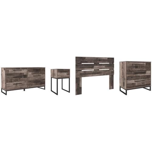 Gallery - Queen Panel Headboard With Dresser, Chest and Nightstand